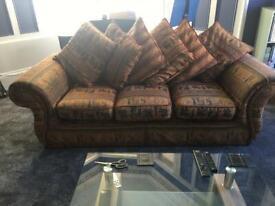 Large Sofa with Greco Roman Design