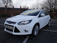 Ford Focus 2012 Zetec, White, Low Mileage, Cheap tax £20, 146hp, DAB radio, 9 Months MOT
