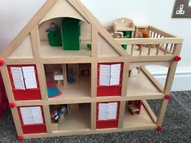 Dolls house plus furniture