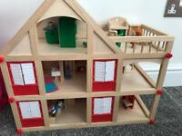 Dolls house plus furniture