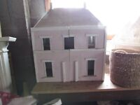 Large wooden home-made Doll's house