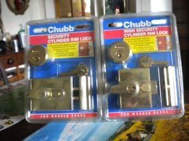 Chubb Security cylinder rim locks