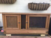 I'm selling two hutches and 1 rabbit run