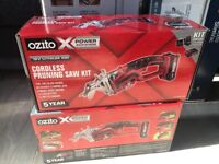 18v cordless pruning saw kit Ozito battery and charger included **BRAND NEW**