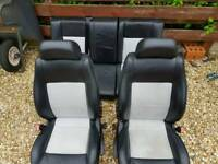 Mk1 Skoda Octavia vrs half leather seats