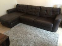 Leather sofa and dining table for sale