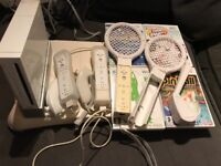 Wii console & Wii board , four games