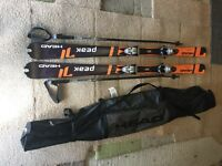 HEAD PEAK 170cm Skis - size 10-11 HEAD Edge boots