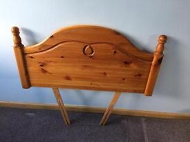 Single pine bedhead