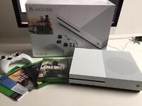 Xbox One S 500gb in box and Games
