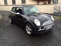 2004 MINI ONE 1.6 (ALLOYS AIR CON ELECTRIC PACK FRONT FOGS) MAY PART EXCHANGE MOT TO JUNE 2017