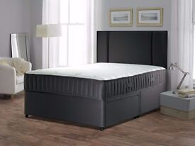 ##GUARANTEED CHEAPEST PRICE## NEW DOUBLE DIVAN BASE WITH MEDIUM FIRM 9INCH THICK MATTRESS ==