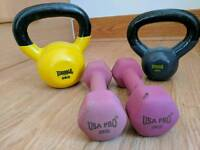Kettlebell and dumbbell weights