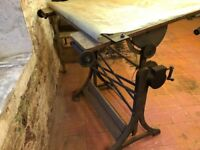 Original Architects Drafting Table - Would make a great Drawing desk