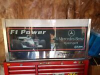 Snap On KRL mercedes f1 tool box, silver used but in good condition.