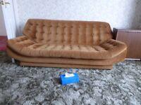Sofa & Two Armchairs - Retro 1970's