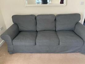 3-seat sofa, Hallarp grey