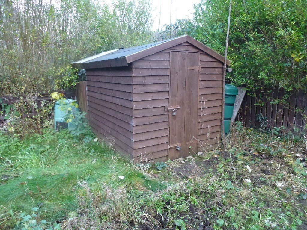 wooden garden shed very secure 8ft x6ft in sheffield south - Garden Sheds Very