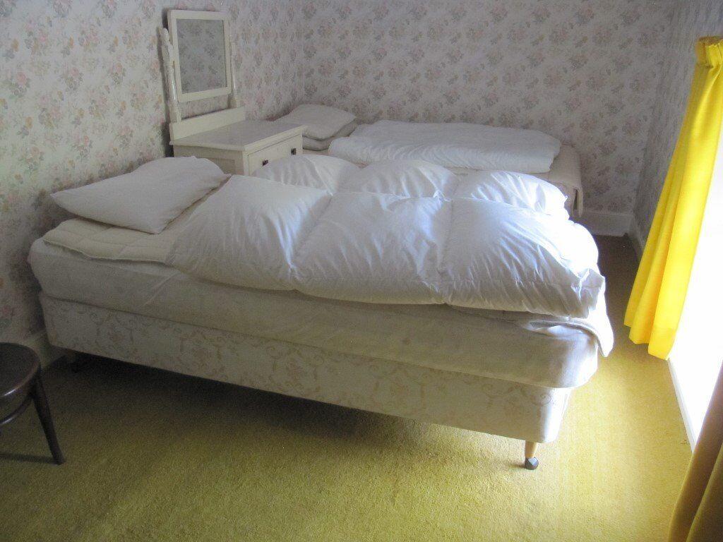 2 single divan beds