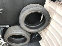 2 x continental car tyre 215/45 R16 for sale  Aberdeen