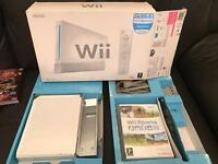 Wii games console with Wii sports game