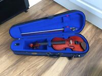 Violin with Case in Good Condition