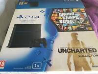 PlayStation 4 ..1tb and 3games one controller