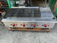 GAS FLAME KEBAB GRILL +FLAT PLATE GRILL CATERING COMMERCIAL KITCHEN FAST FOOD SHOP
