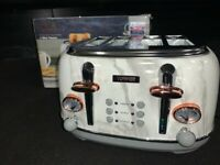 Tower Bottega 4-Slice Toaster, Marble and Rose Gold LIKE NEW