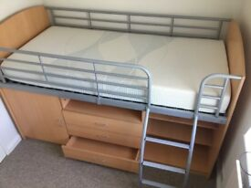 Single storage bed - for child or adult - great quality
