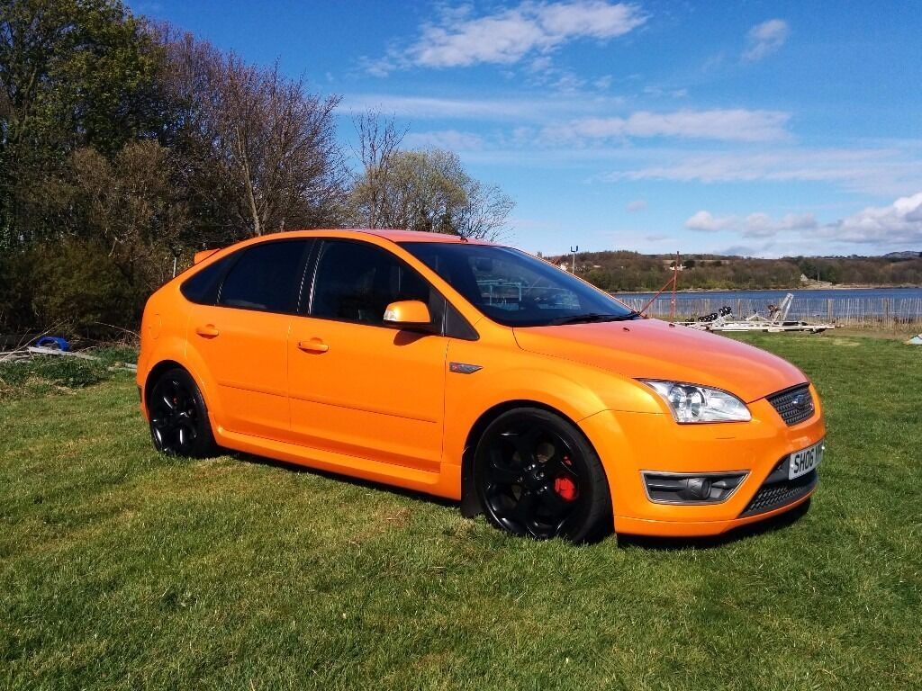 ford focus st 3 5 door orange 2006 in dalgety bay. Black Bedroom Furniture Sets. Home Design Ideas