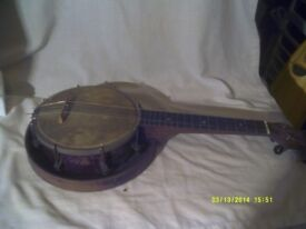 A GEORGE FORMBY BANJO , AS IN PICTURES ++++ FOR SALE £ 150 .++++++