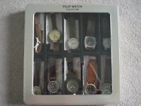 military pilot watch collection in collector's box
