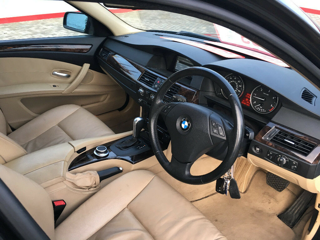2007 bmw 520d se 2.0 diesel automatic, 2 owner, 87k f/s/h, leather interior, hpi clear 100%