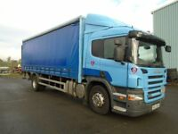 2009 SCANIA P230 SLEEPER CAB CURTAIN SIDE WITH TAIL LIFT