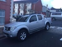 Nissan Navara Pickup, manual, full leather interior, electric sunroof, kenwood touchscreen stereo.