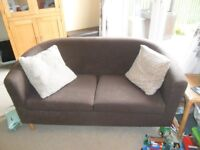 2 Seater Tub Sofa in Chocolate