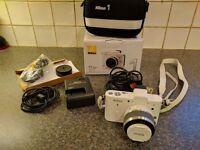 Nikon 1 V1 Digital Camera - 10-30mm Lens Kit - White (10.1MP)