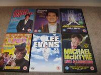 6 x Comedy DVD's Mrs Browns boys, John Bishop, Jimmy Carr, Lee Evans