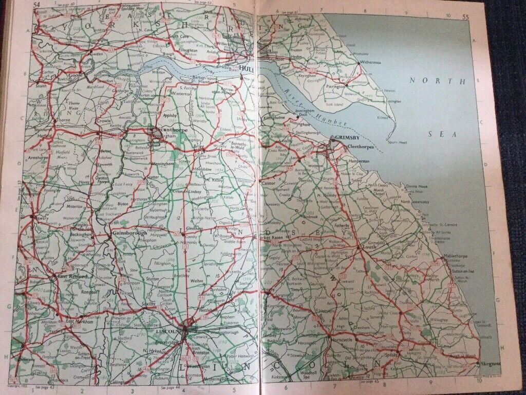 Oldham's Road Atlas of Great Britain 1960s book