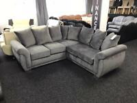 Corner Sofa Fabric Grey size 214cmx 214cm