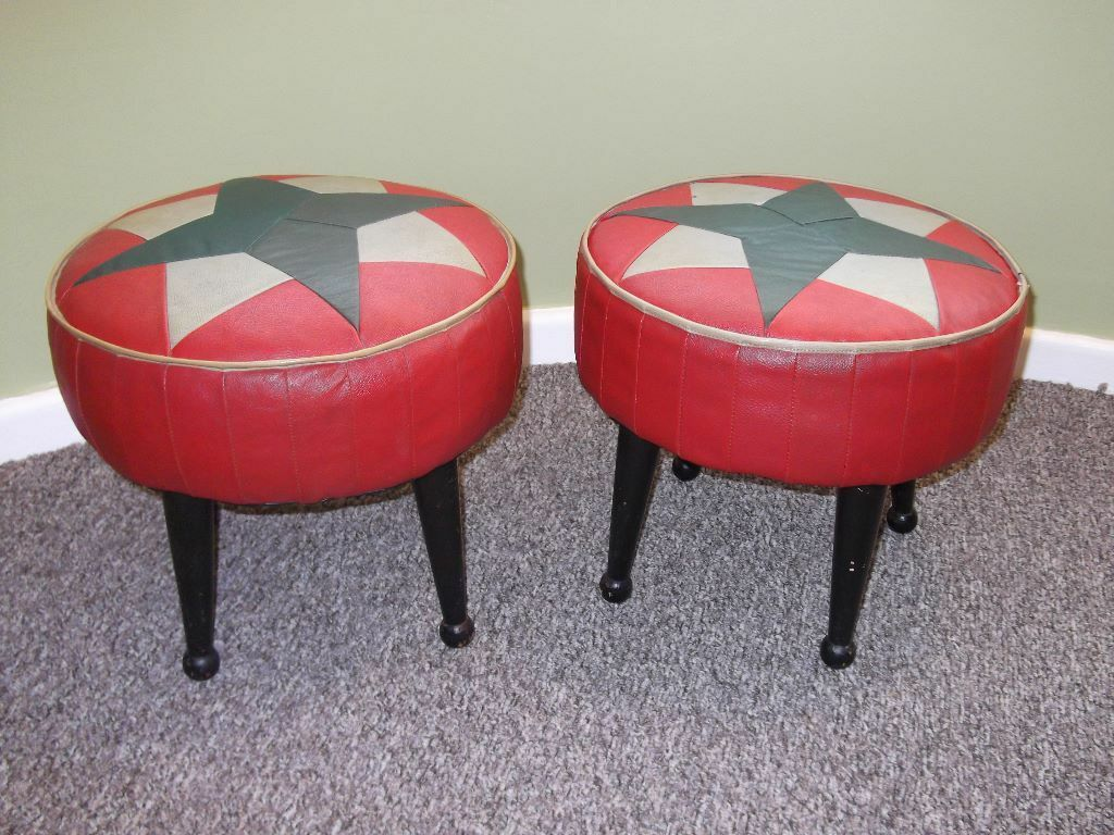 Vintage Mid Century 1960 S Sherborne Footstools In
