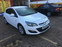 2013 VAUXHALL ASTRA 1.4 PETROL WHITE 47 000 MILES HPI CLEAR SERVICE HISTORY