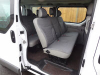 RENAULT TRAFIC 9 SEATER BUS CREW CAB VAN NOT FORD TOURNEO MERCEDES VITO TRAVELINER VW T5 SHUTTLE BUS