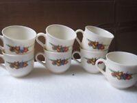 """Arcopal """"fruit pattern cups x 7"""