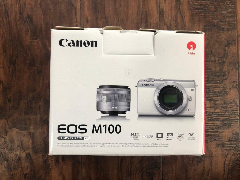 Canon EOS M100 Mirrorless camera & EF-M 15-45mm lens  BLACK