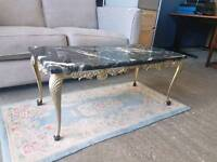 Marble topped table