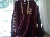BURGUNDY SUPER DRY ZIP UP HOODY