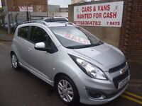 Chevrolet SPARK 1.0 LTZ,5 dr hatchback,1 previous owner,FSH,full MOT,half leather interior,only 50k