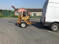 Wacker Tarmac roller with trailer